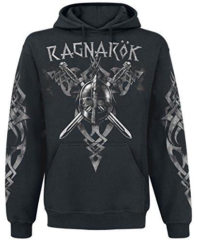 Ragnarök Felpa con cappuccio nero XXL