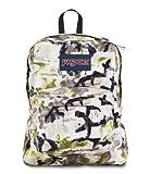 "JanSport Superbreak Backpack - Pesto Green Multi Spread Camo - 16.7""H x 13""W x 8.5""D"