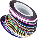 32 pcs nail Sticker Fil Bandes Striping Tape Autocollant Manucure Ongle Nail Art Tips