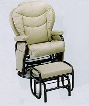 Ikea Rocking Chair Swivel Glider Rocker Chair With Ottoman Ivory Leatherette
