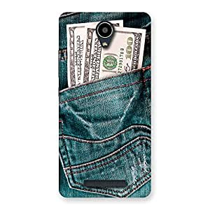 Gorgeous Dollars Jeans Back Case Cover for Redmi Note 2