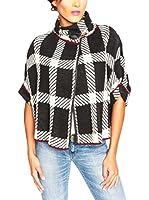 SO Cachemire & Knitwear Poncho Adele (Negro / Blanco)
