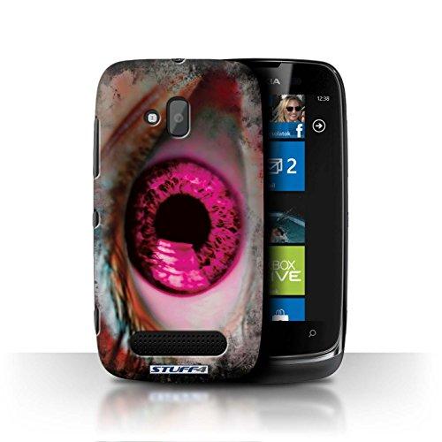 Stuff4 Hülle / Hülle für Nokia Lumia 610 / Rosa Muster / Schutzbrille/Iris Kollektion