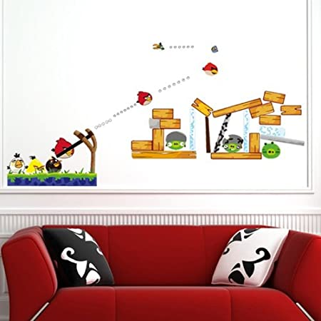 Angry birds decor tktb for Angry bird wall mural