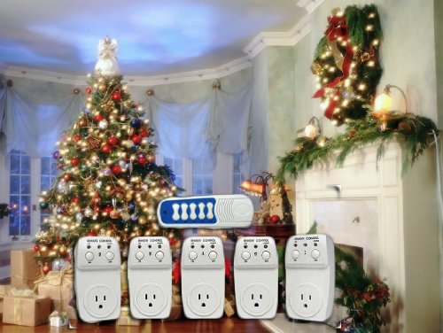 christmas lighting wireless remote control outlet switch socket 5 pack for christmas tree outdoor decorating lights all electric powered holiday