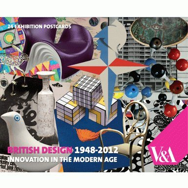 V&A British Design 1948-2012 Postcard Wallet||EVAEX