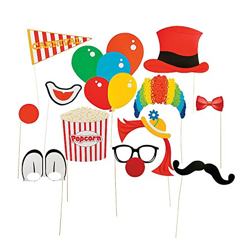 Paper Carnival Photo Booth Stick Props - 1