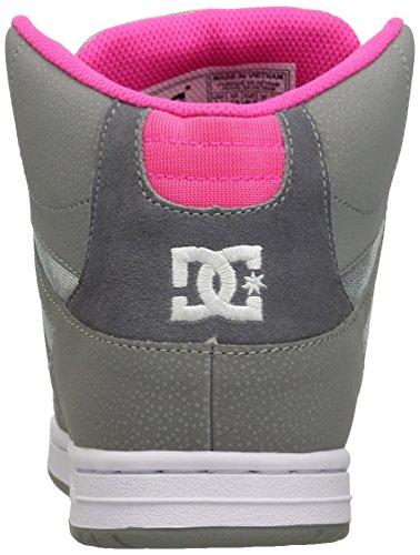 DC Rebound High SE Skate Shoe, Silver, 11 M US
