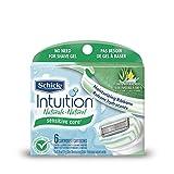 Repuesto de Rasuradora Schick Intuition Naturals Sensitive Care, paquete de 6