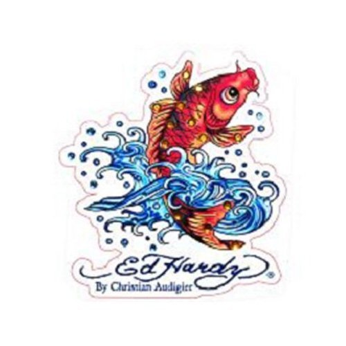 Ed Hardy Koi Fish Wallpaper http://www.dealnay.com/113691/ed-hardy-koi-fish-crystal-cling-bling.html