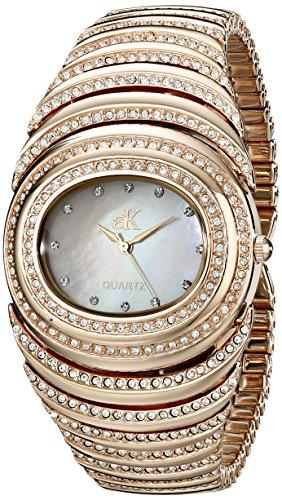 Adee Kaye Optic ak21-LRG/C 36.3x37mm Brass Case Rose Gold Brass Mineral Women's Watch