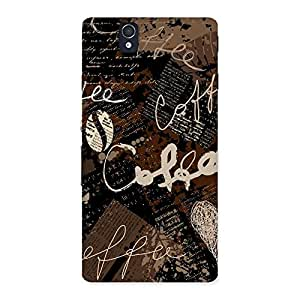 Gorgeous Coffee Coffee Multicolor Back Case Cover for Sony Xperia Z
