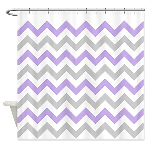 Purple and Grey Chevron Shower Curtain