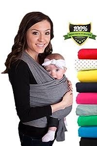 CuddleBug Portabebé - Garantía de Por Vida - Portador de Bebé - El Envío Gratuito- Todo Natural Portador de Bebé - Talla Única Baby Wrap - Portabebés - Baby Carrier - Garantía de 30 Días de CuddleBug