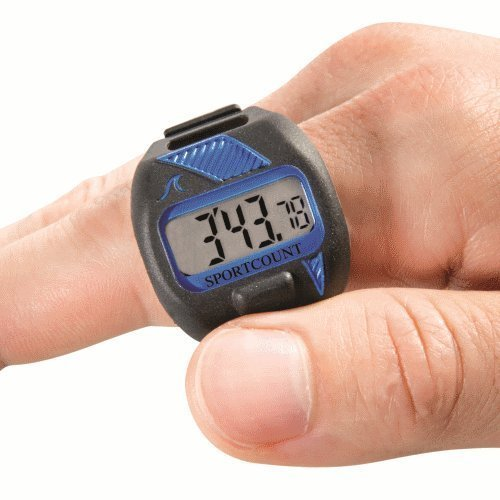 Sportcount Combo blau Rundenzähler Chronometer Finger
