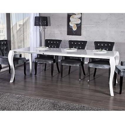 Lounge zona di design–Tavolo da pranzo tavolo da pranzo allungabile da tavolo Estratto Pace Lucido Bianco 170/230cm estendibile sala da pranzo 7339