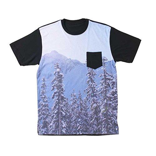 686 Men's Ride High Pocket Short Sleeve T-Shirt, Black, Large