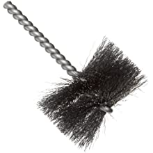 Weiler Round Power Tube Brush, Steel, Round Shank, Single Stem