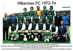 Hibernian FC 1973-74 Squad Eddie Turnbull Pat Stanton with