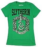 Harry Potter Junior Girl's Short Sleeved Slytherin T-Shirt (Medium, Green)