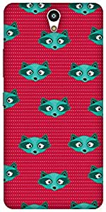 The Racoon Grip printed designer hard back mobile phone case cover for Lenovo Vibe S1. (Blue Racoo)
