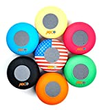 Abco Tech Water Resistant Wireless Bluetooth Shower Speaker with Suction Cup and Hands-Free Speakerphone Pink Zebra