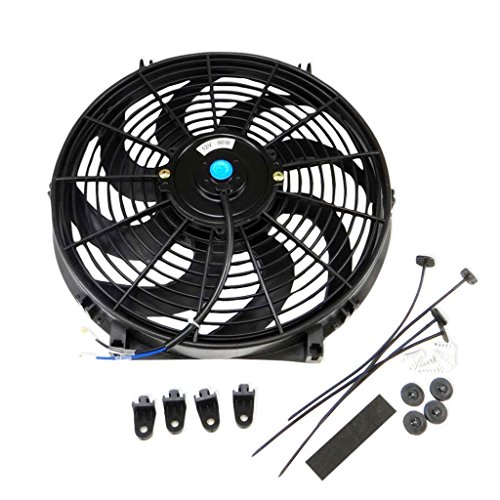 14 inch Universal Slim Fan Push Pull Electric Radiator Cooling Mount Kit 12 Volt (14 Inch Electric Radiator Fan compare prices)