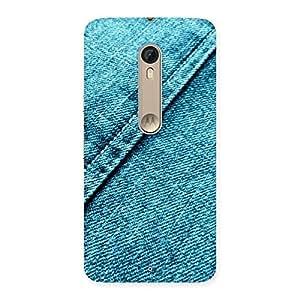 Stylish Denim Diagnal Print Back Case Cover for Motorola Moto X Style