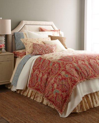 Ralph Lauren Mirabeau Paisley Floral Tan King Pillow Sham
