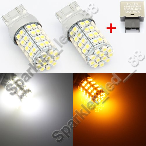 Splendid Autos 60-Smd 7443 Switchback Led Bulbs Plus Flasher For Scion Frs Turn Signal Lights