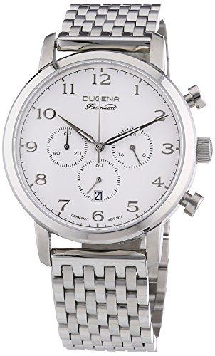 Dugena Sirus Chrono - Reloj  de Cuarzo para Hombre, correa de Acero inoxidable color Plateado