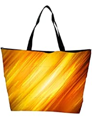 Snoogg Abstract Yellow And Orange Designer Waterproof Bag Made Of High Strength Nylon