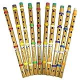 Flöten 10er Pack indische Bambusflöte Blockflöte...