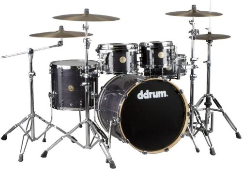 ddrum Dios M Series Maple 5 Peice Drum Shell Pack- Trans Black