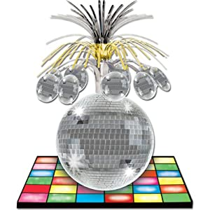 Disco Ball Centerpiece Party Accessory (1 count) (1/Pkg)