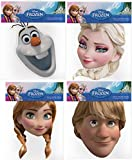 Official Disney Frozen 4 Card Face Masks (Multipack)