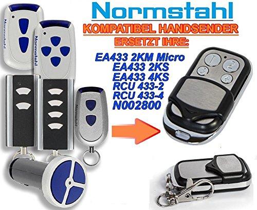 NORMSTAHL EA433 2KM, EA433 2KS, EA433 4KS, RCU433-2, RCU433-4, N002800 Kompatibel Handsender, 433.92Mhz rolling code keyfob