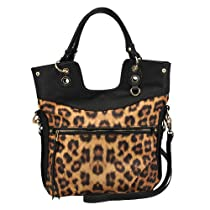 Jessica Simpson Biaca Satchel,Leopard,One Size