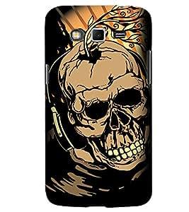PrintVisa Modern Art Skull 3D Hard Polycarbonate Designer Back Case Cover for Samsung Galaxy Grand 2