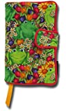 Paperback Book Cover, Fits Standard Size Paperback Novels, Frogs In The Garden Design, Beautiful, Soft foam-lined fabric book covers with built-in book mark