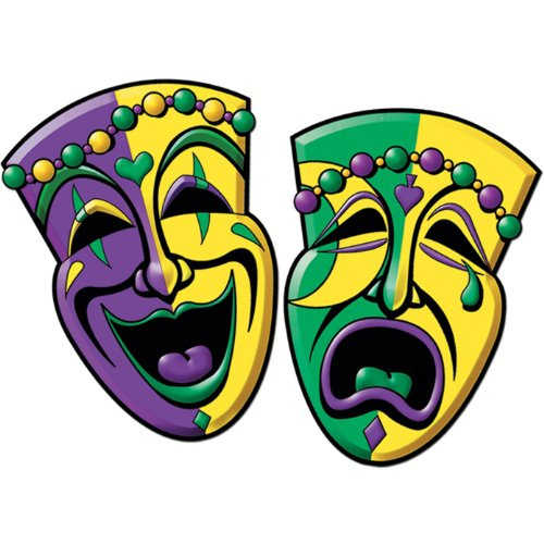 Comedy & Tragedy Face Cutouts   (2/Pkg) - 1