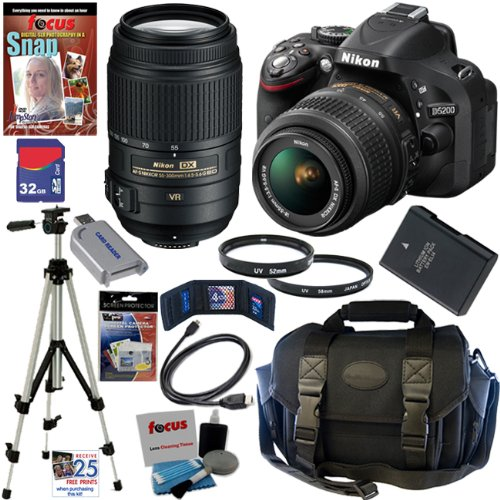 Nikon D5200 24.1 MP CMOS Digital SLR Camera (Black)