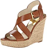 Michael Kors Giovanna Wedge Leather Wedge Sandal