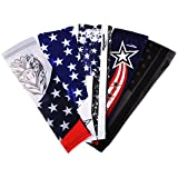COOLOMG Pair Child Youth Adult Anti-slip Arm sleeves UV Protection Skin Cover Protector Basketball Baseball Running XXS-XL