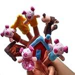 Homgaty 8 Pcs Pigs Animals Finger Pup...