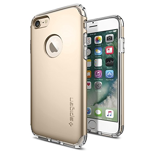 iPhone-7-Case-Spigen-Hybrid-Armor-AIR-CUSHION-Champagne-Gold-Clear-TPU-PC-Frame-Slim-Dual-Layer-Premium-Case-for-Apple-iPhone-7-042CS20695