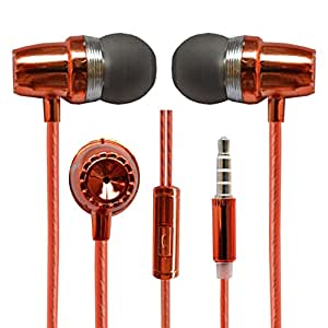 Hello Zone Fragranced and Scented Headset Handsfree Headphone Earphone with Mic 3.5 MM Jack for HTC Desire 820G+ Dual SIM -Orange