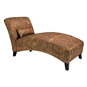 Handy Living 340CL-PGP46-084 Chaise Lounge Chair, Sienna Paisley