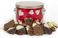 Sugar Plum Chocolates – Valentine's Day Gift, Salty N Savory Heart Tin Milk and Dark Chocolate…