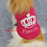HuntGold New Cute Pet Dog Princess T-shirt Clothes Vest Summer Coat Puppy Costumes Outfit(Size: S)